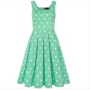 Dolly and Dotty Mint Green Polka Dot Dress